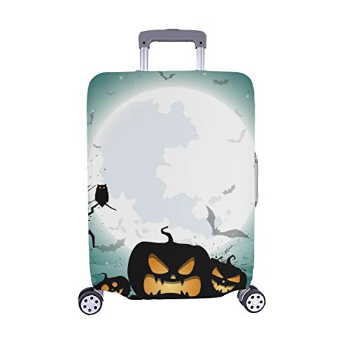 Halloween Night Concept Poster Spandex Trolley Case Travel Luggage Protector Suitcase Cover 28.5 X 20.5 Inch ()