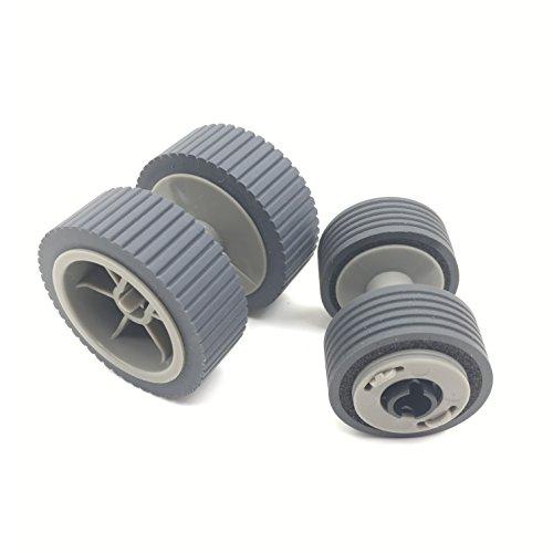 OKLILI PA03540-0001 PA03540-0002 Brake Roller + Pick Roller Pickup Roller for Fujitsu fi-6240Z fi-6140Z fi-6230Z fi-6130Z fi-6240 fi-6140 fi-6230 fi-6130 fi-6125 fi-6225 (Brake Roller)