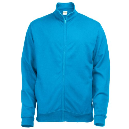 (Awdis Mens Plain Fresher Full Zip Sweat / Sweatshirt / Outerwear (XL) (Sapphire)