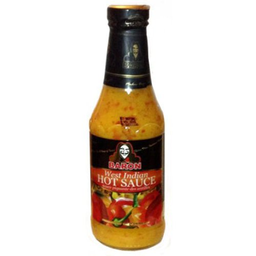 Baron West Indian Hot Pepper Sauce 14oz (Pack of 2) (Classic Pepper Sauce)