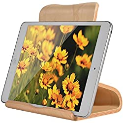 Samdi Multi-Angle wood stand for Tablets, e-readers and Smartphones iPad Air 2 3 4 Pro,Compatible with mini, kindle, Nexus Accessories, Samsung Tab and Other Tablets(White Birch)