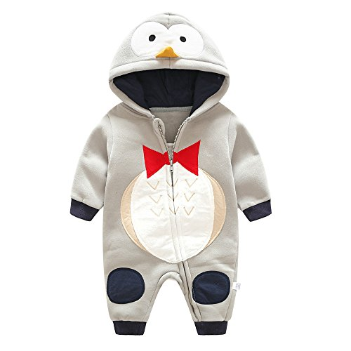Birdfly Newborn Baby Penguin Romper Zip Up Hooded Jumpsuit Cute Dress Up Animal Costume Thick Fleece  sc 1 st  Shop Halloween Costumes at ?ostumy & Grey Fox Costume For Sale at ?ostumy | Halloween Costumes