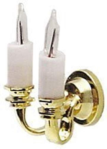Dollhouse Miniature 1:24 Scale Lighting Cir-Kit Dual Candle Wall Light Sconce