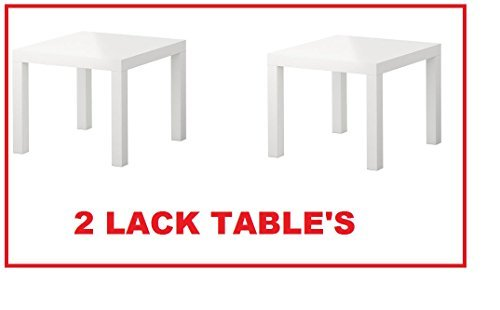 Side Table Gloss - Ikea Table End Side White (2 Pack) Lack
