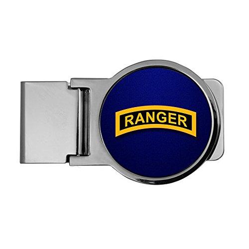 - ExpressItBest Premium Money Clip - US Army Rangers (Airborne), tab