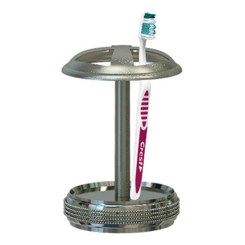 UPC 847682002232, nu steel Toothbrush Holder, Steel Brushed