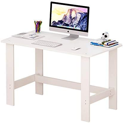Living Room Wide Dining Game Study Table L120 x W33 x H72 cm ROLEES White Simple Wood Computer Desk Home Office PC Laptop Table Workstation