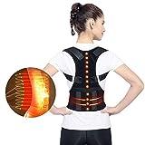 Magnetic Therapy Back Corrector, Medical Grade Adjustable Magnetic Therapy Humpback Posture Corrective Brace Shoulder Back Support Belt Lumbar Support - Relieves Neck Back Spine Pain for Men Women