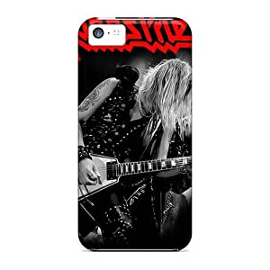 Durable Hard Phone Cover For Apple Iphone 5c (EpV183Ryly) Unique Design Lifelike Judas Priest Band Image