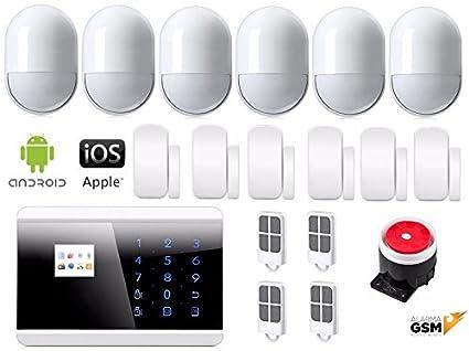 Kit alarma con sensores antimascotas inalámbrica GSM y PSTN ...