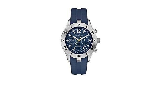 43518499e863 Reloj NAUTICA NST Chrono 401 azul marino Blue A20112G  Amazon.es  Relojes