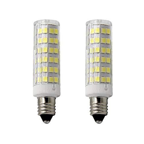 E11 LED Light Bulb 5W to 6W, 60W 120v/130v Halogen Bulbs Equivalent Mini Candelabra jd E11 Base T3/T4 LED Bulb dimmable for Ceiling Fan, Indoor Lighting-2packs (Daylight White 6000K)