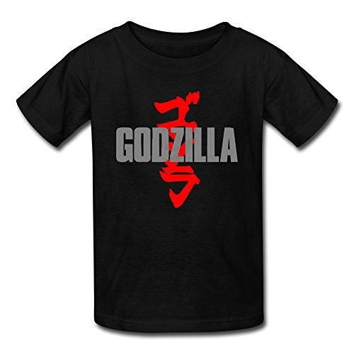 [AOPO Godzilla MUTO T-shirt For Kids Unisex Medium Black] (Anguirus Costume)