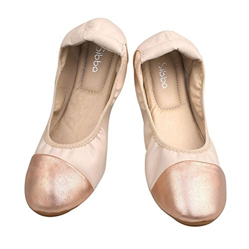 Ballerina Flat up Shoes Ballet Causal Lace Flats Nude Snug Women's SIBBA CwxHOXqO