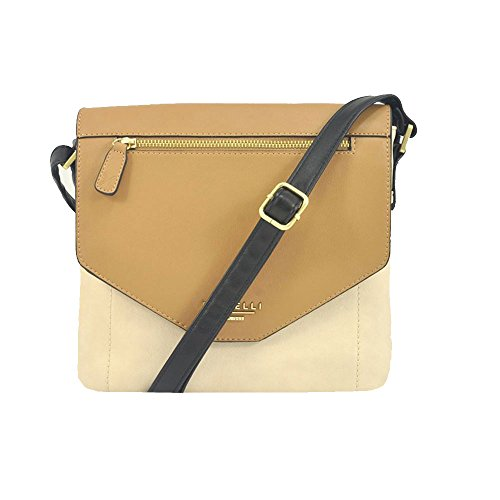'carey' Designer Inspired Biscuit Mix Cross Body Bag Fiorelli-8059