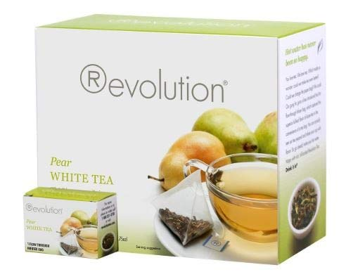 Revolution Pear White Tea - 30 Individual Packed Teabags Per Box Filled with Premium Leaf Tea by Quality Brands