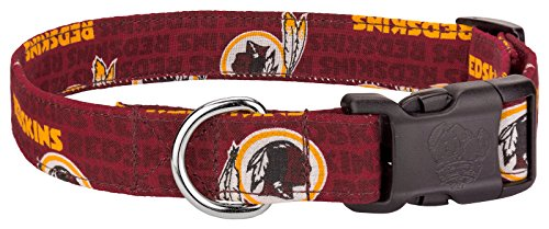Redskins Custom Handmade Designer Dog Collar-L (Custom Designer Dog Collar Collars)