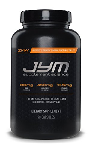 JYM Supplement Science, ZMA JYM, Zinc and Magnesium Supplement, 90 Vegetarian Capsules (Best Muscle Building Testosterone Supplement)