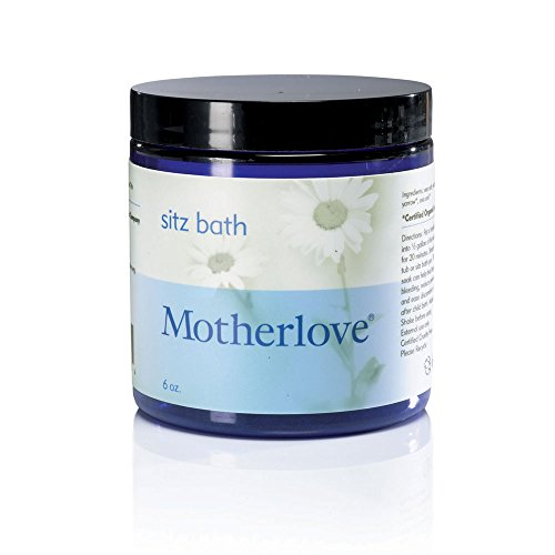 Motherlove Sitz Bath -- 6 oz 6 Bath Sea Salt Glass