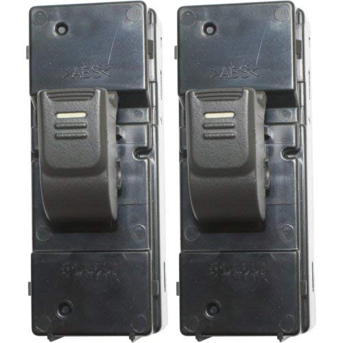 (Window Switch Set of 2 compatible with 2004 Chevrolet Colorado Rear Left and Right Side)