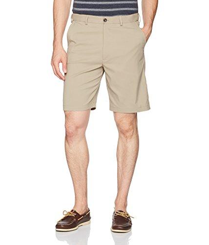 - Savane Men's Flat Front Mirco Fiber Short, Chinchilla, 32