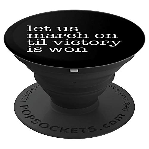 Black National Anthem African American Lift Every Voice PopSockets Grip and Stand for Phones and Tablets