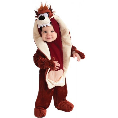 Taz Baby Costumes (Looney Tunes Taz Romper Costume, Brown, 6-12 Months)