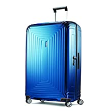 Samsonite Neopulse 30-Inch Spinner, Metallic Blue, Checked – Large
