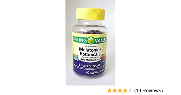 Amazon Com Spring Valley Adult Gummy Melatonin Botanicals Dietary