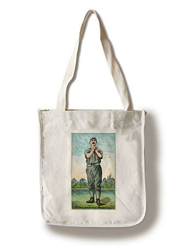 Lantern Press Washington Statesmen - Paul Hines - Baseball Card (100% Cotton Tote Bag - Reusable)