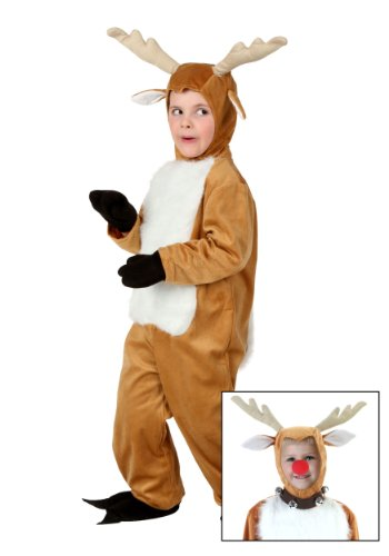 Little Boys' Toddler Deer Costume (Furry Toddler Reindeer Costumes)