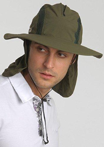 5145aad8593 Unisex Outdoor Sun Bucket Boonie hat With Durable Mesh Lining and Hidden  Stowable Neck Flap -