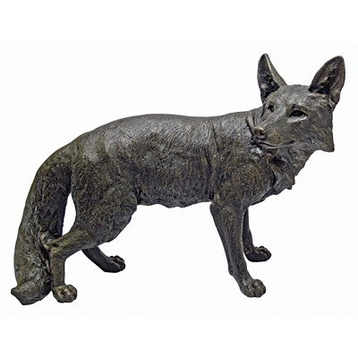 Design Toscano Bushy Tail Fox Statue, Bronze by Design Toscano