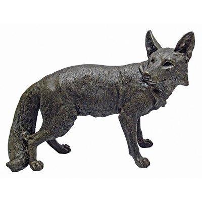 Design Toscano Bushy Tail Fox Statue, Bronze For Sale