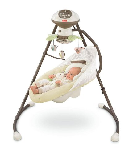 Amazon Fisher Price Cradle N Swing My Little Snugabunny Baby