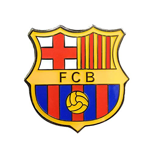 ZQfans Football Club Soccer Team Logo Badge Metal Crest Pin for Soccer Fans (Barcelona)