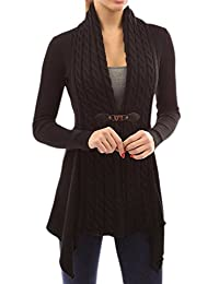 Women Autumn Basic Long Sleeve Knit Open Front Cardigan Sweater Plus Size