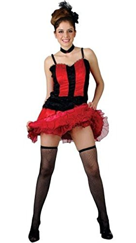 Can Can Moulin Rouge Fancy Dress Costume (US 16-18)