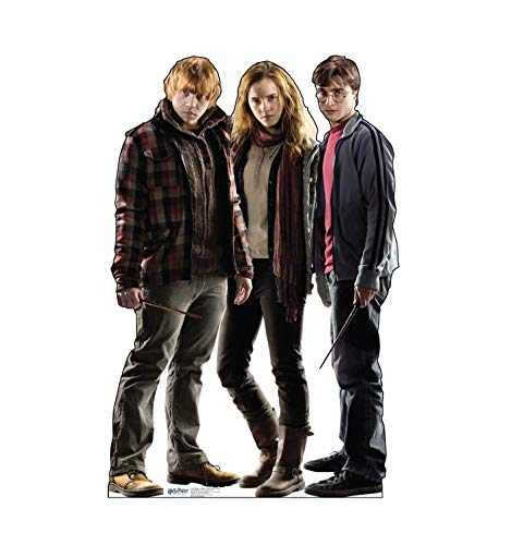 Advanced Graphics Harry, Hermione & Ron Life Size Cardboard Cutout Standup - Harry Potter and the Deathly Hallows -