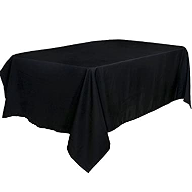 Tablecloth 60 x 102-Inch Black Tablecloth 100 present Polyester Rectangular Table Cover by Utopia Kitchen