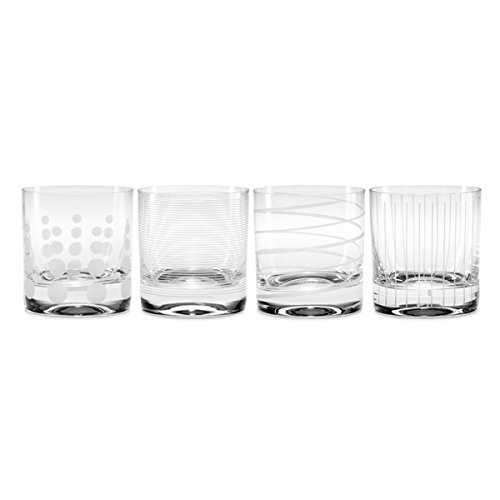 (More buying choices for Mikasa Cheers Double Old Fashioned Glass, 13.5-Ounce, Set of 4 (Clear 2))