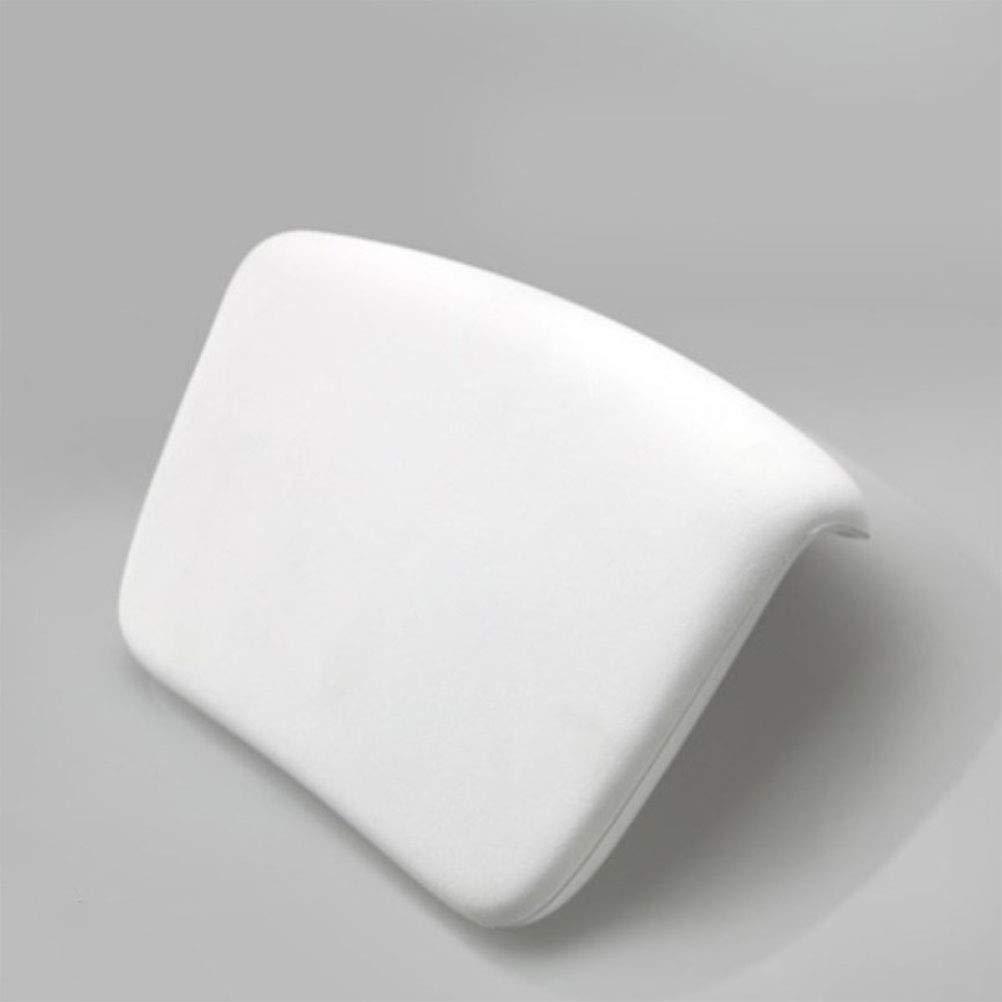 Blanco Vosarea Almohada de la ba/ñera Almohadilla del reposacabezas del SPA Cuadrado de adsorci/ón para un Alivio Relajante