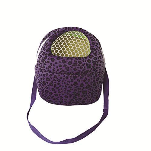 (Leeotia Small Pet Carrier Bag Animal Outgoing Bag with Shoulder Strap Portable Travel Handbag Backpack for Hedgehog Hamster Mouse Rat Sugar Glider Squirrel Chinchilla Rabbit (Large, Purple))