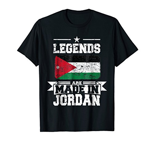 Legends Jordan Love Hearts Jordanian Flag Patriot T-shirt by Country Jordan Flag Tshirt