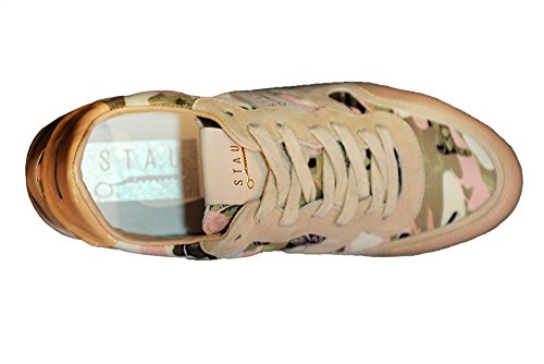 STAU Sneakers R 726 Tessuto Floreale Nappa Cipria Fantasia Fiori