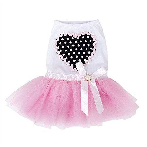 Small ShowlingPink Pet L Lace Dog Princess Dress Puppy Tiny Skirt Eq7qw6FR