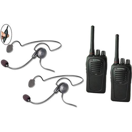 Eartec SC-1000 2-User Two-Way Radio System with 2X Cyber Inline PTT Headsets -