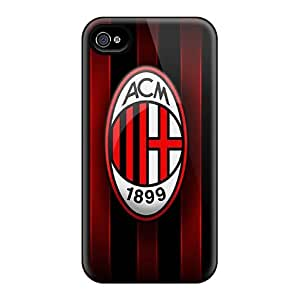 Shock Absorbent Cell-phone Hard Cover For Iphone 4/4s With Allow Personal Design High-definition Ac Milan Series CharlesPoirier