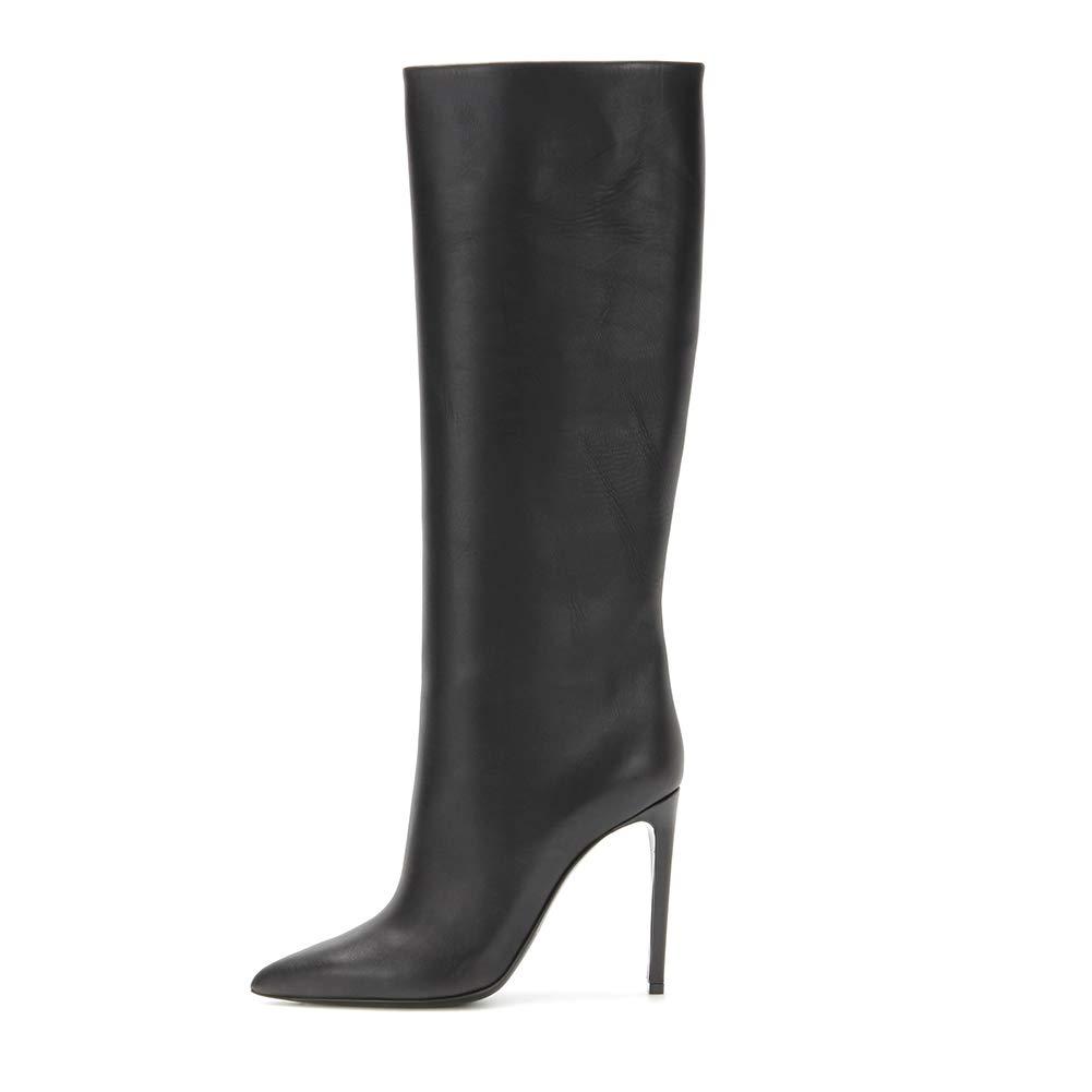 Kniehohe Stiefel Stiletto Absatz Schuhe Spitze Zehe,MWOOOK-420 Casual Elegante Klub Modisch Party Hochzeit High Heel Stiefel