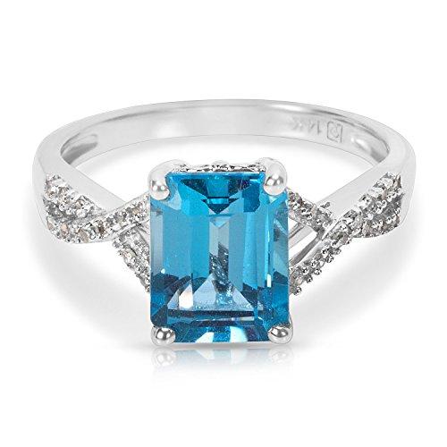 BRAND NEW Emerald Cut Blue Topaz Fashion ()